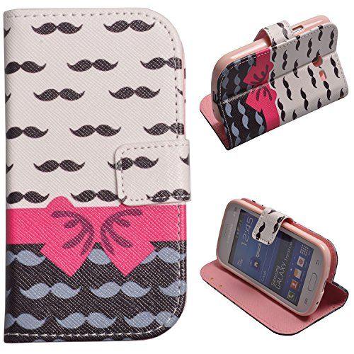 Voguecase® Etui Housse Cuir Portefeuille Case Cover Pour Samsung Galaxy Trend Lite S7392 S7390(barbe rose)de Gratuit stylet l'écran aléatoire universelle