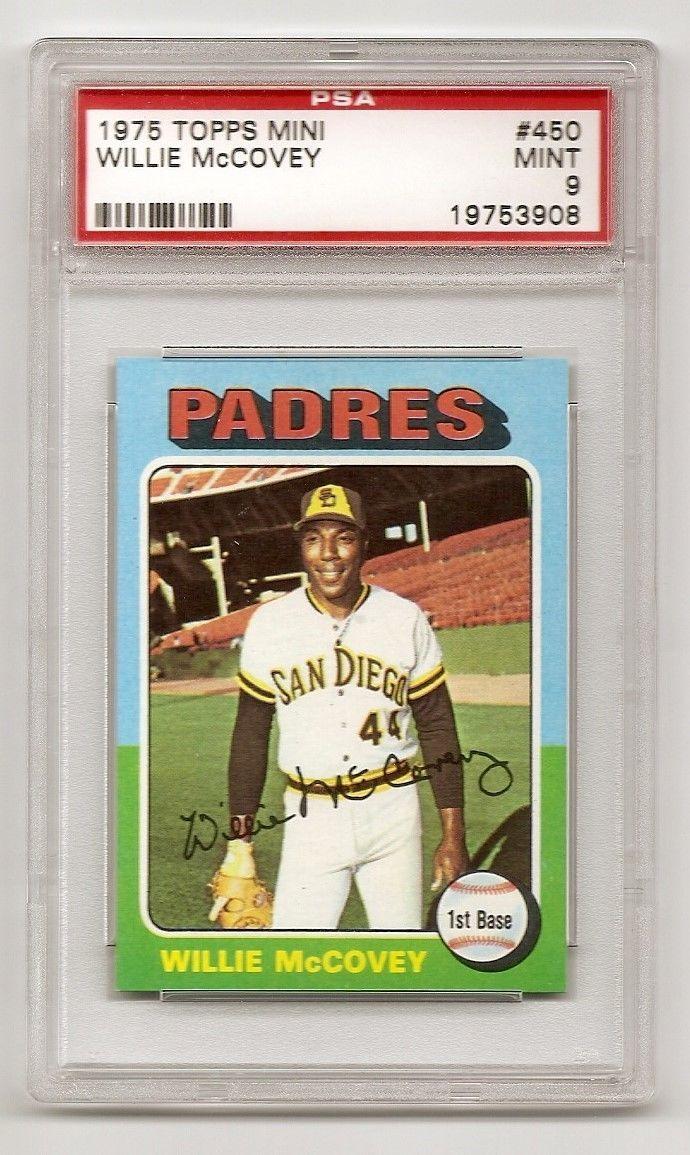 1975 Topps Mini Willie McCovey PSA 9 Mint  Giants Padres HOF