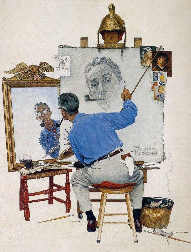 Я рисую то, что вижу вокруг: живые иллюстрации Нормана Роквелла. Обсуждение на LiveInternet - Российский Сервис Онлайн-Дневников