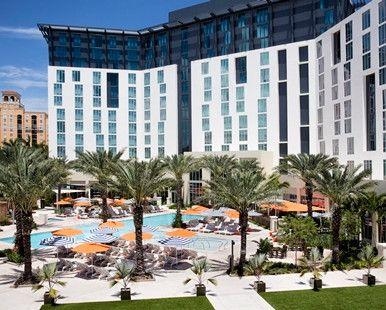 Hilton West Palm Beach Hotel, FL - Hotel Exterior and Pool