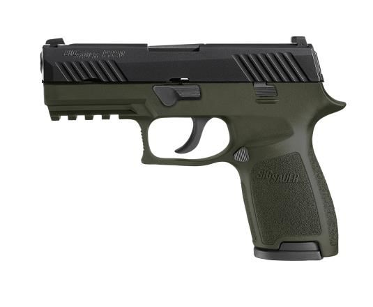 Sig Sauer P320C Striker 9mm Siglite Night Sights OD Green Nitron Finish 15rd Mags