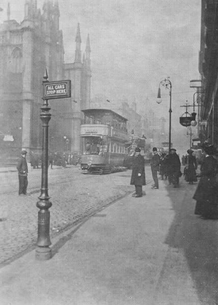 Renfield St Church, c.1908. Finally, a non-cinema or theatre view up Renfield St from the junction of Bath St. Demolished and replaced by BHS.
