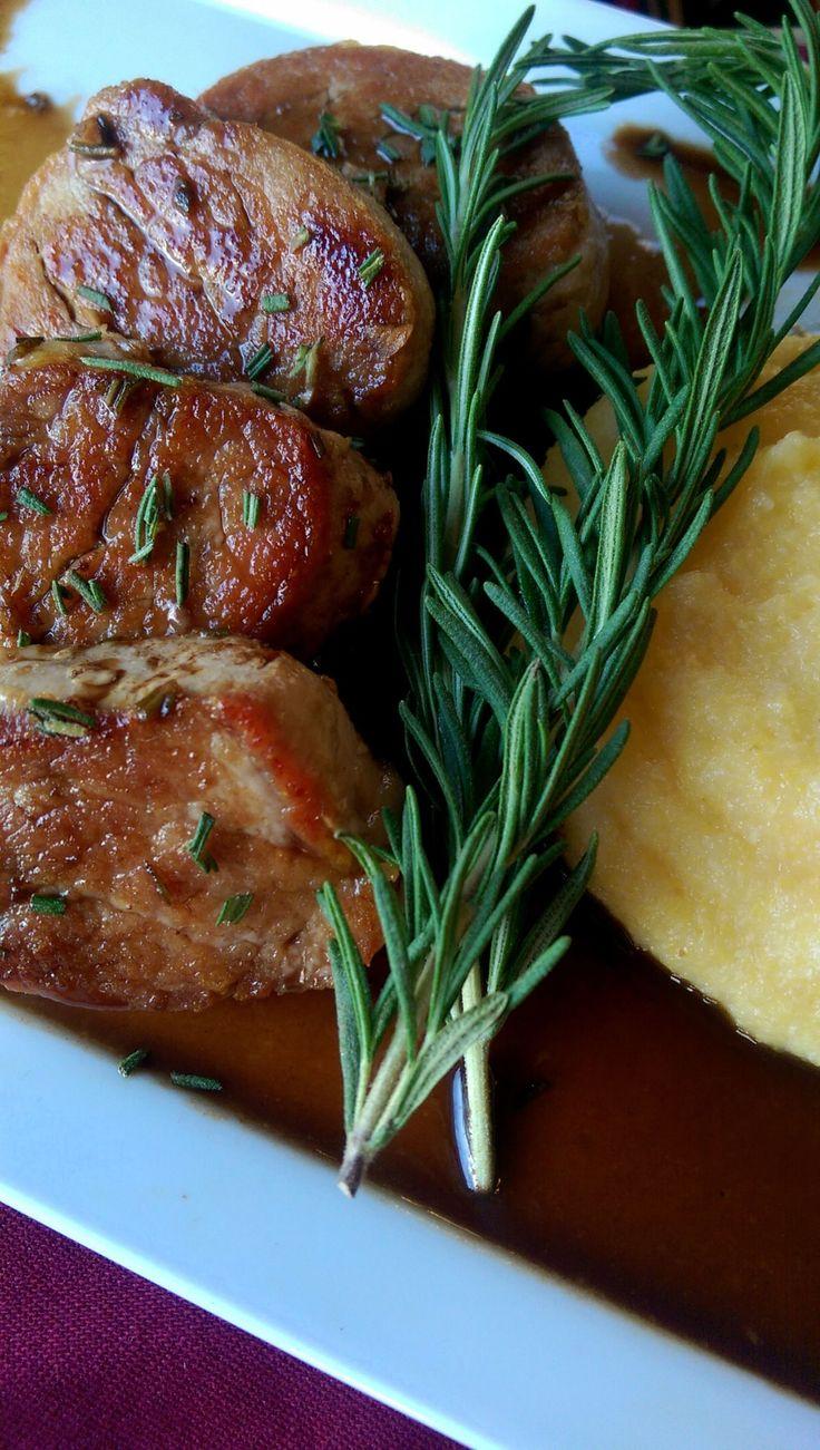 Pork Medallions with Balsamic, Rosemary & Honey Glaze | Dinner Is Served