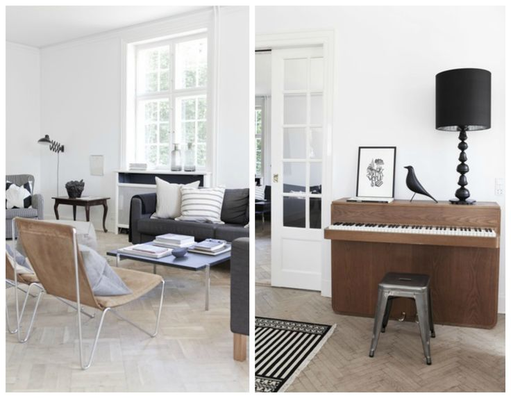 Scandinavian living room in neutral tones that piano for Neutral tone living room ideas