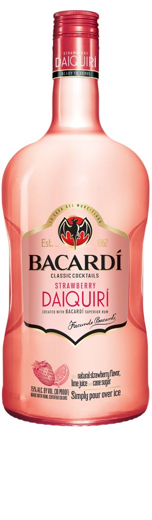 bacardi light strawberry daiquiri, yes please! the light version makes great low cal drinks!