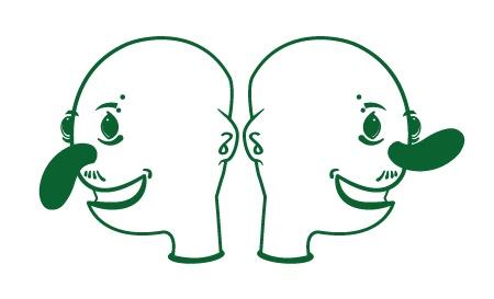 L'uomo naso da cetriolo ha un erezione