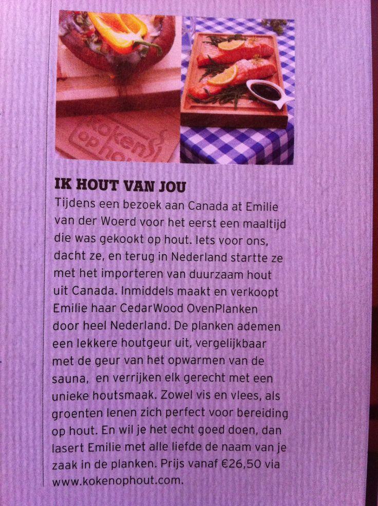 artikel over KokenOpHout in Bierblad (voor Relaties van Heineken Bierbrouwerijen)
