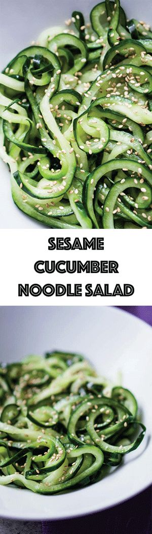 Cold Sesame Cucumber Noodle Salad Recipe - Low Carb, Sugar-Free