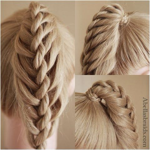The Twisted Ladder Ponytail