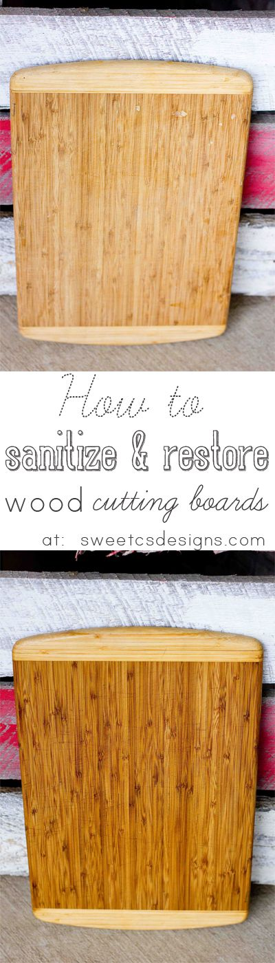 How to sterilize and restore a wood cutting board.
