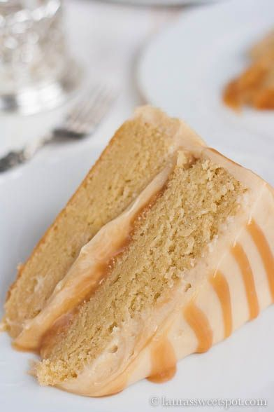 Antique Caramel Cake - The caramel frosting totally melts in your mouth