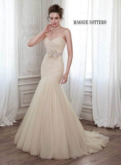 17 best images about maggie sottero spring 2015 for Fit and flare ruched wedding dress