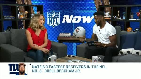 Nate Burleson's Top 3 Fastest WRs in the NFL:  3. Odell Beckham Jr (New York Giants) 2. Julio Jones (Atlanta Falcons) 1.