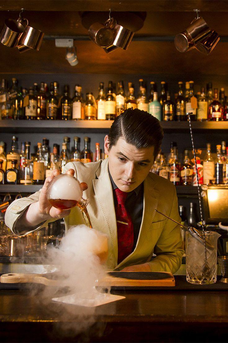 Smoky cocktail at Eau De Vie
