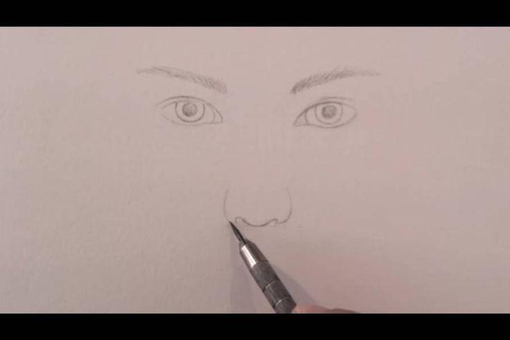 paso 4 para dibujar una nariz realista
