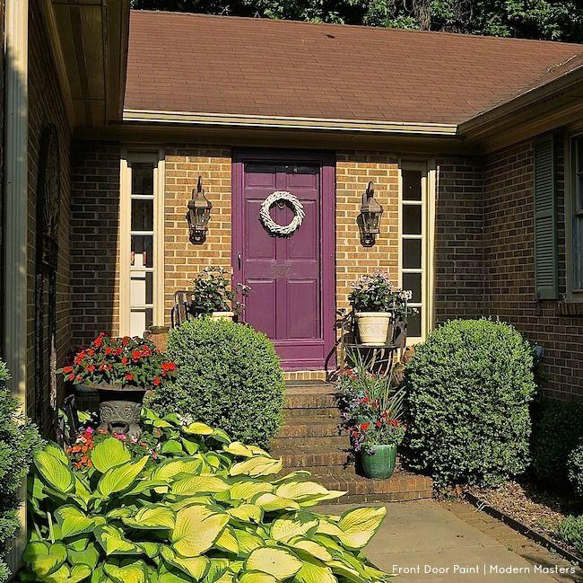 repainting a front door with nonfade modern masters front door paint