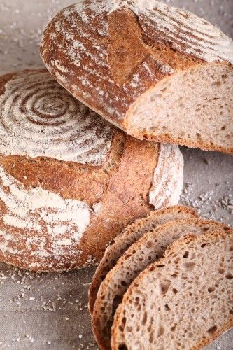 Have been making this wholewheat sourdough and it comes out great. Next I want to try the 'semolina sesame' Very good bread baking tools as well!