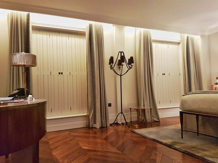 Our Solid Georgian Shutters are a stunning addition to this room in a Mayfair Hotel.