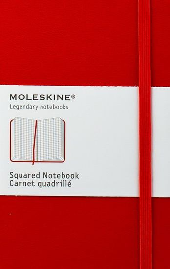 "Moleskin Notebook in ""Apple"" red - perfect for back to school!"