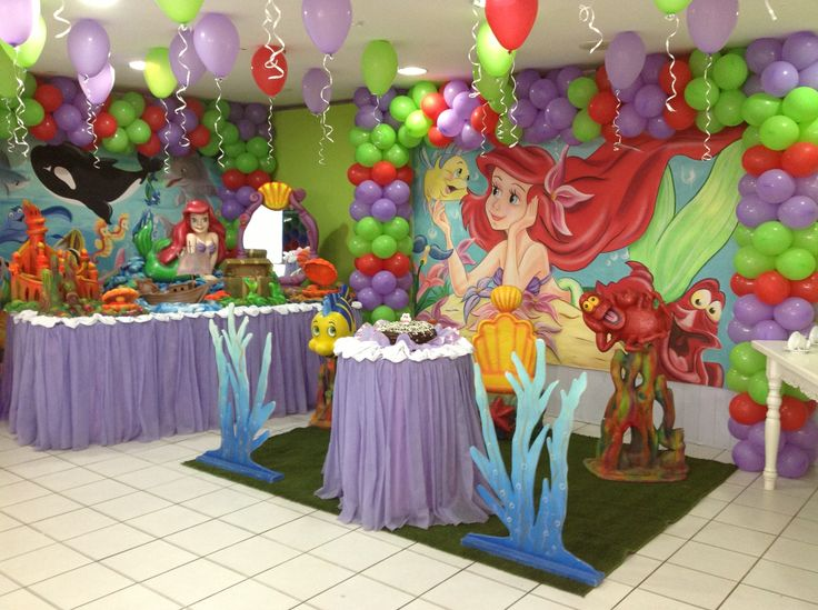 17 best ideas about little mermaid decorations on for Ariel decoration ideas