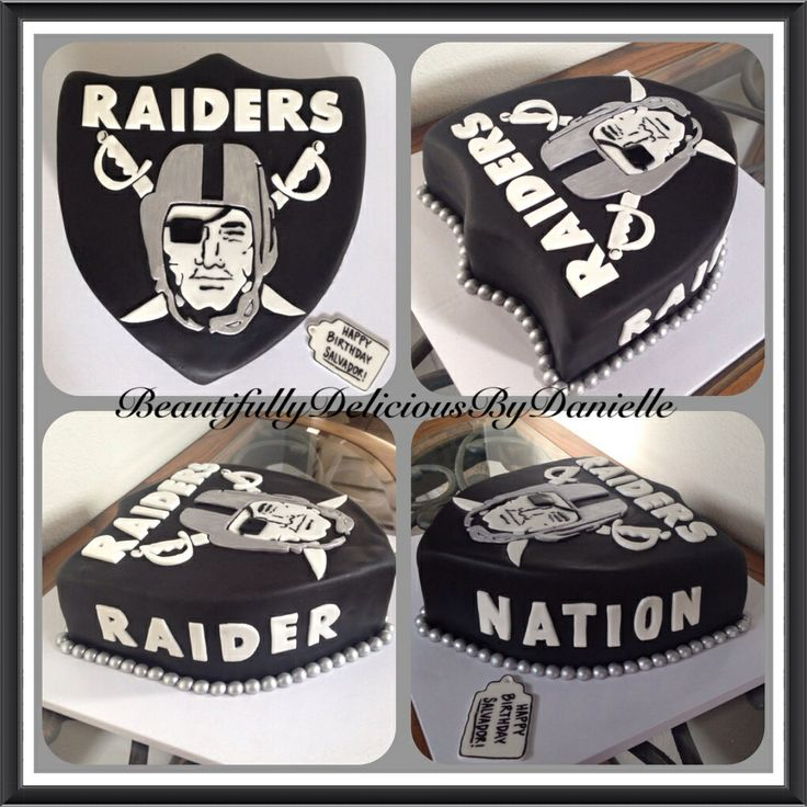 Raiders cake  by Beautifully Delicious By Danielle