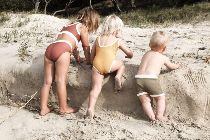 Mini Rib Swim Short in Olive   Zulu and Zephyr Mini Shop in store or online at www.saltliving.com.au #saltliving #zuluandzephyr #mini