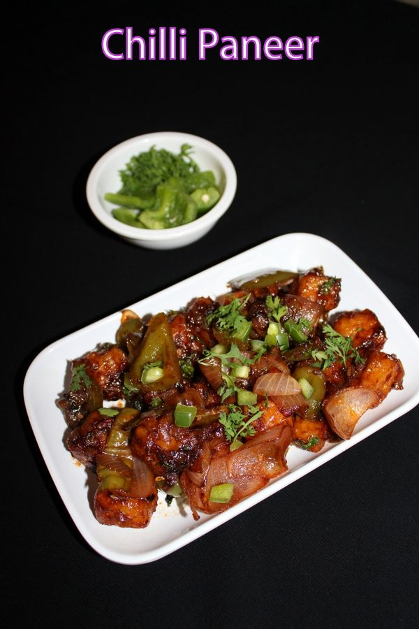 Chilli paneer posted here is a dry version of the indo chinese paneer recipe made using cottage cheese by deep frying them and sauteing in sauces.