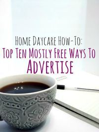 When I started up my own home daycare, I didn't have a ton of money to do it with. So, I got a little creative when it came to advertising. If you really look into it, there are lots of ways to l...