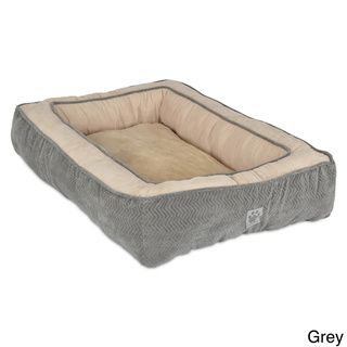 So Rawley feels at home. In Burgundy. $55 SnooZZy Chevron Texture Rectangle Bolster Pet Bed | Overstock™ Shopping - The Best Prices on SnooZZy Other Pet Beds