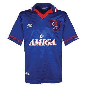 Umbro 1993-94 Chelsea Home Shirt - Amiga Sponsor
