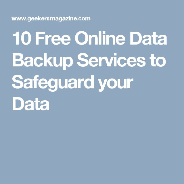 10 Free Online Data Backup Services to Safeguard your Data