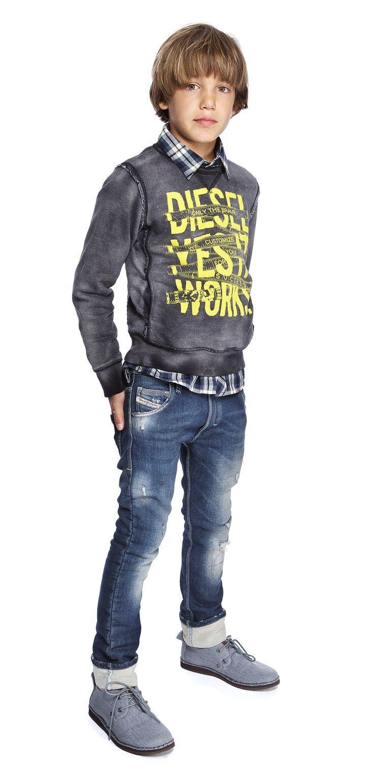 Diesel Diesel Kid Workwear Teen Boys Fashion