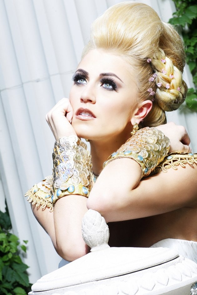 "Miss Iowa USA 2012 - ""Gardens of Goddess"" photo shoot by Fadil Berisha at Caesar's Palace Las Vegas Hotel & Casino pool."