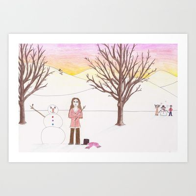 Why Aren't You Here Art Print by Sheridan van Aken - $22.88