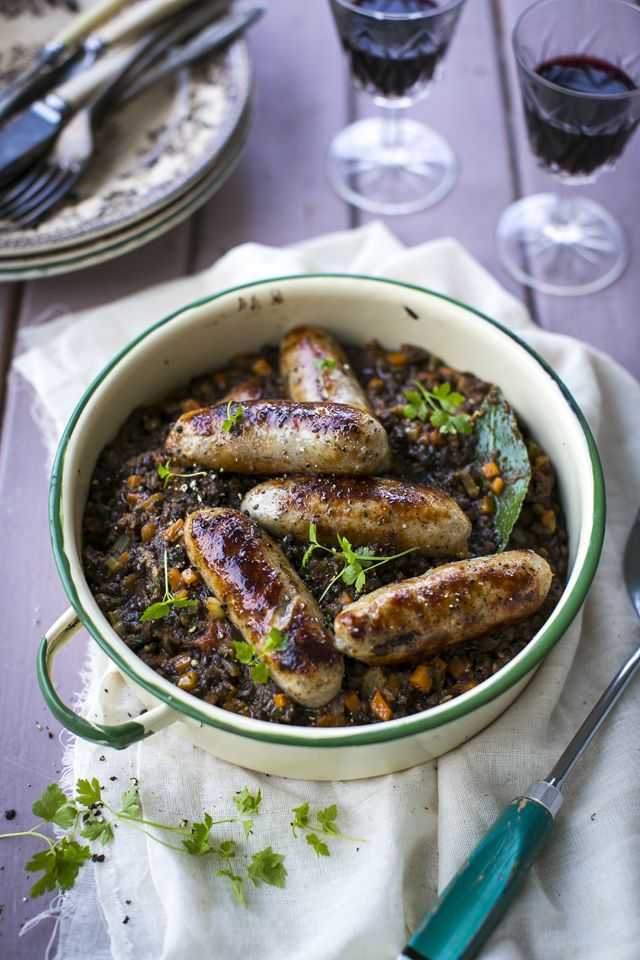 Sausage & Lentil Cassoulet | DonalSkehan.com, A great alternative to bangers and mash!