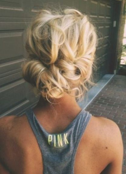Love the messy elegance of this up-do. really nice,loose up-do.