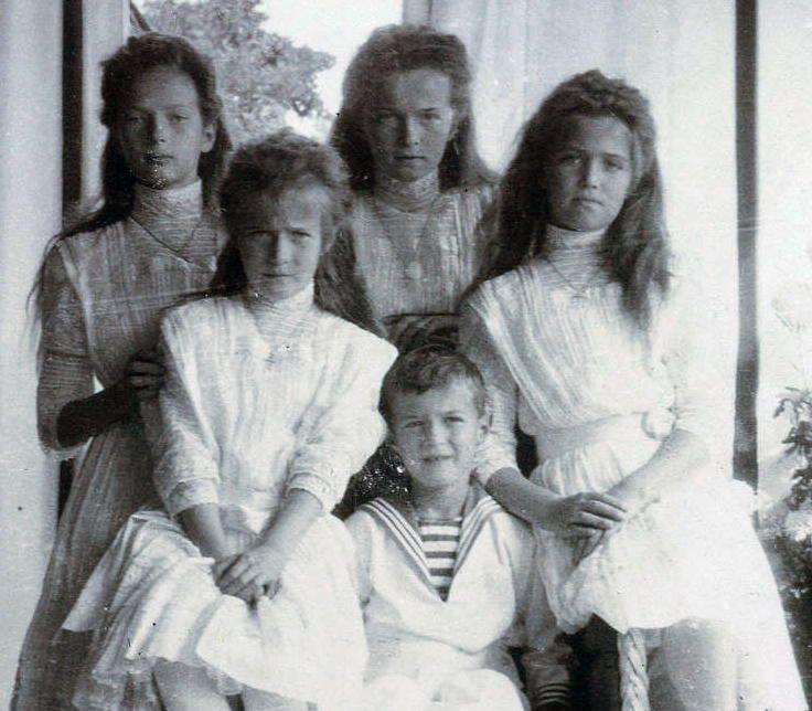 Tatiana, Anastasia, Alexei, Olga and Maria Romanov
