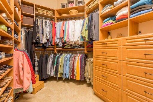 Organized closet in Alder home