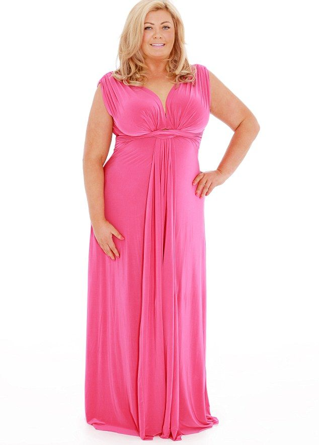 Maxi Plus Size Pink Dress in 2016-2017 Fashion Trend
