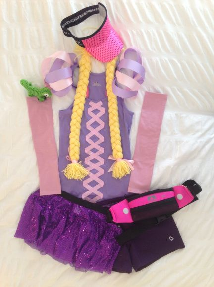 Rapunzel Running Costume fit for a #rundisney princess
