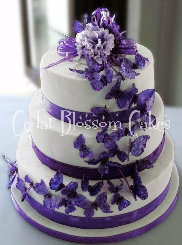 Purple Butterfly Cake