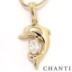 Dolfijn hanger in 14 karaat goud