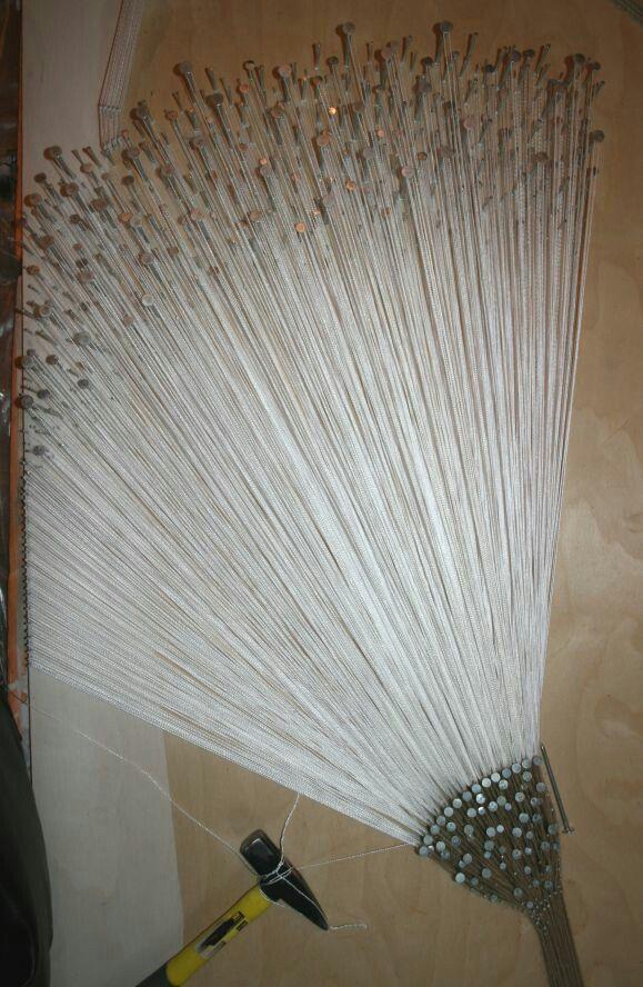 """AekaDolls """"My string art""""...artwork nails and thread """"Dandelions"""" Панно из гвоздей и ниток в стиле стринг арт (искусство струн) Елены Алехиной """"Одуванчики - иллюзия ткачества"""""""