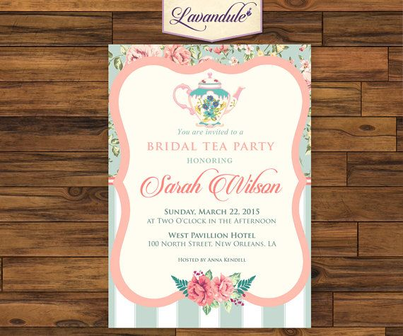 Bridal Tea Party Floral W/ Thank You Card_inv_008 by Lavandule