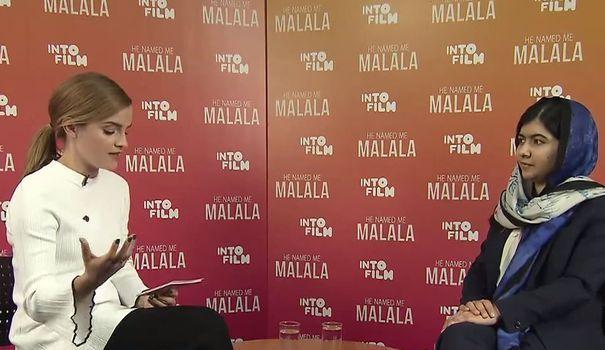VIDEO. Emma Watson bouleversée par sa rencontre avec Malala Yousafzai - L'Express Styles