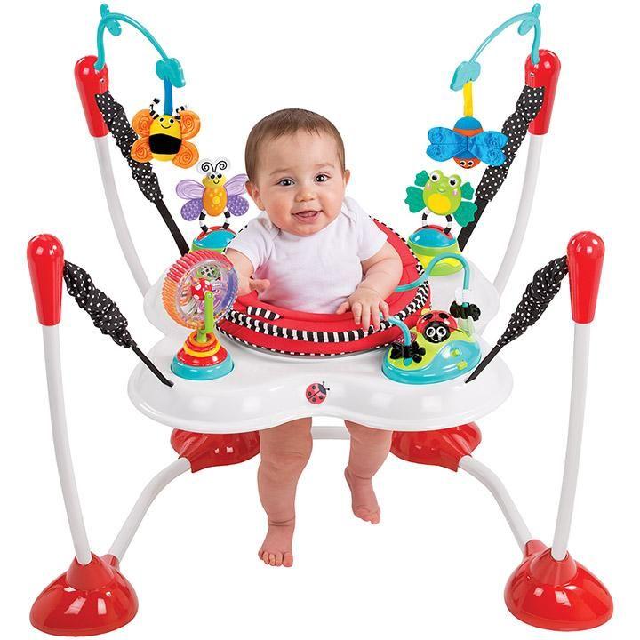 fb4863cf064 Amazon.com   Sassy Inspire The Senses Bounce Around Activity Center    Stationary Stand Up Baby Activity Centers   Baby