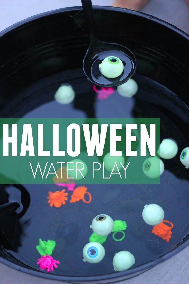 Sometimes all you need is a bucket of water, some silly Halloween props, and some ladles to create hours of fun. My little ones put on thei...