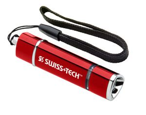 Image showing a Red SWISS+TECH ST50100 Mini-Stretch LED Flashlight