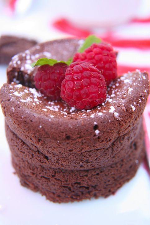 Warm Chocolate Souffles