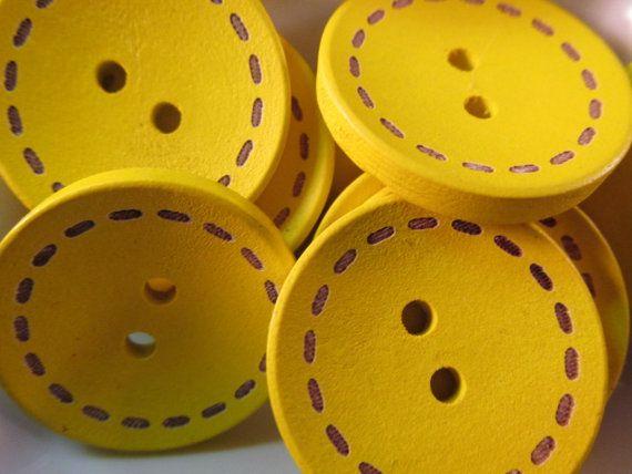 5 grandi pulsanti giallo 25mm 1 pollice brillante di WNBrunk